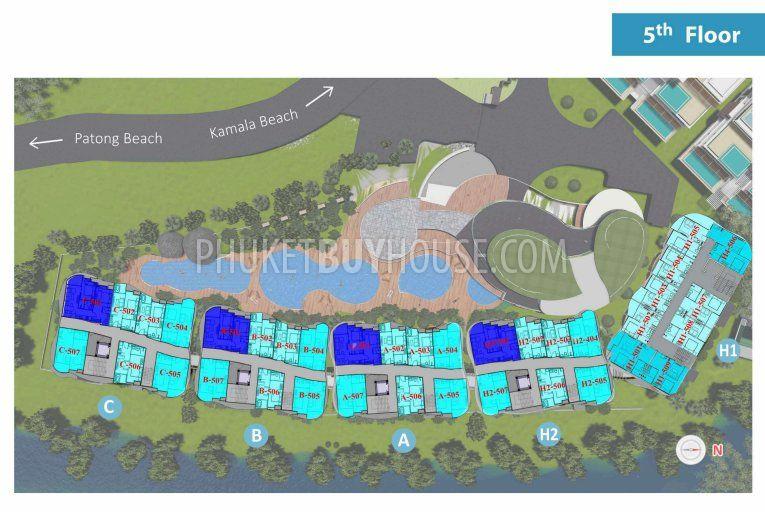 普吉岛卡马拉现代设计公寓KAMALA区:KAM6094,编号44247