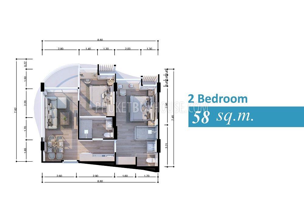 普吉岛海滩2居室公寓KAMALA区:KAM6095,编号44248