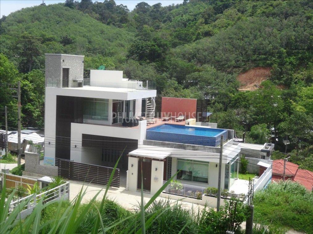 PAT1533 3 bed pool villa 195 M B amazing sea view in Patong