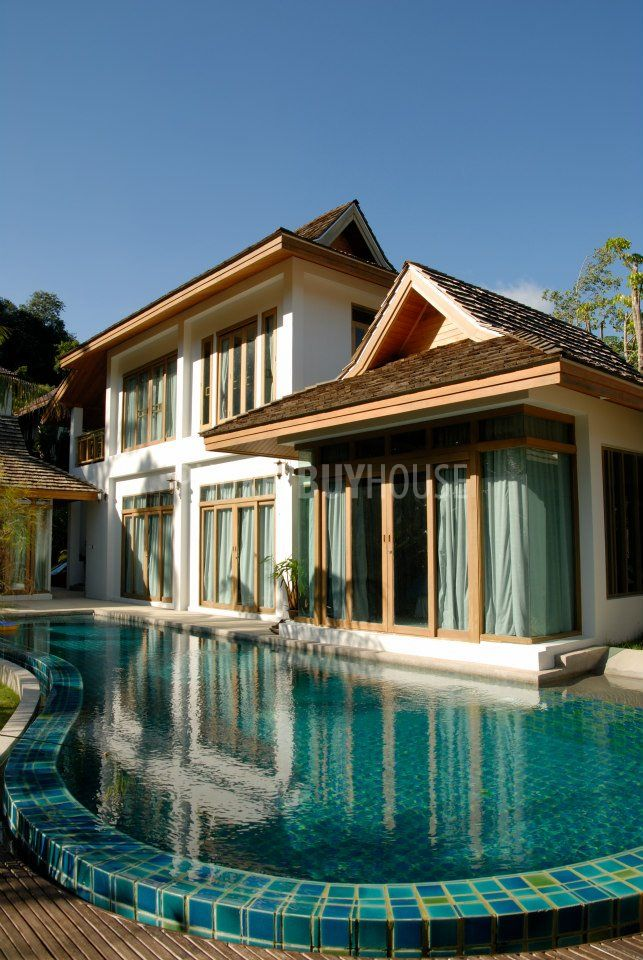 Cha2892 modern thai style villa for sale in chalong for Thai modern house style