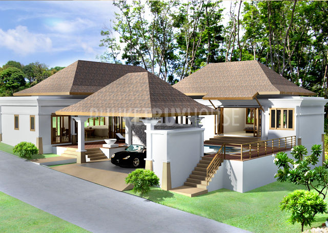 Bali style villa house plans house design plans for Villa style homes