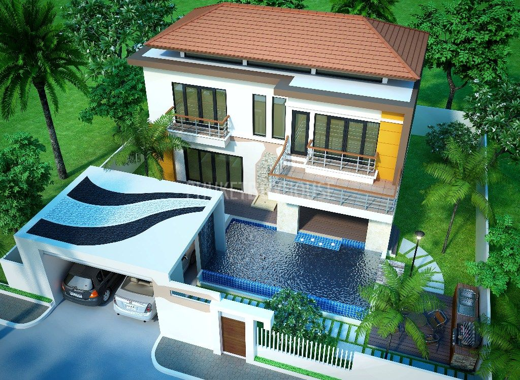 Che3955 pool villas in chengtalay for sale phuket buy house for Selling a house with a pool