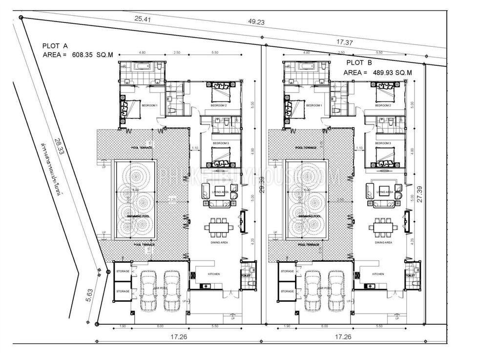 RAW2641 Brand New Balinese Private Pool Villa Phuket Buy House – Bali Style House Floor Plans