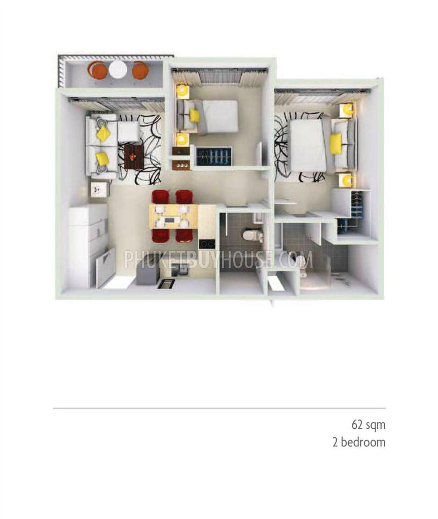 Ban5548 2 Bedroom Apartment In Successful Development Bangtao Beach Phuket Buy House