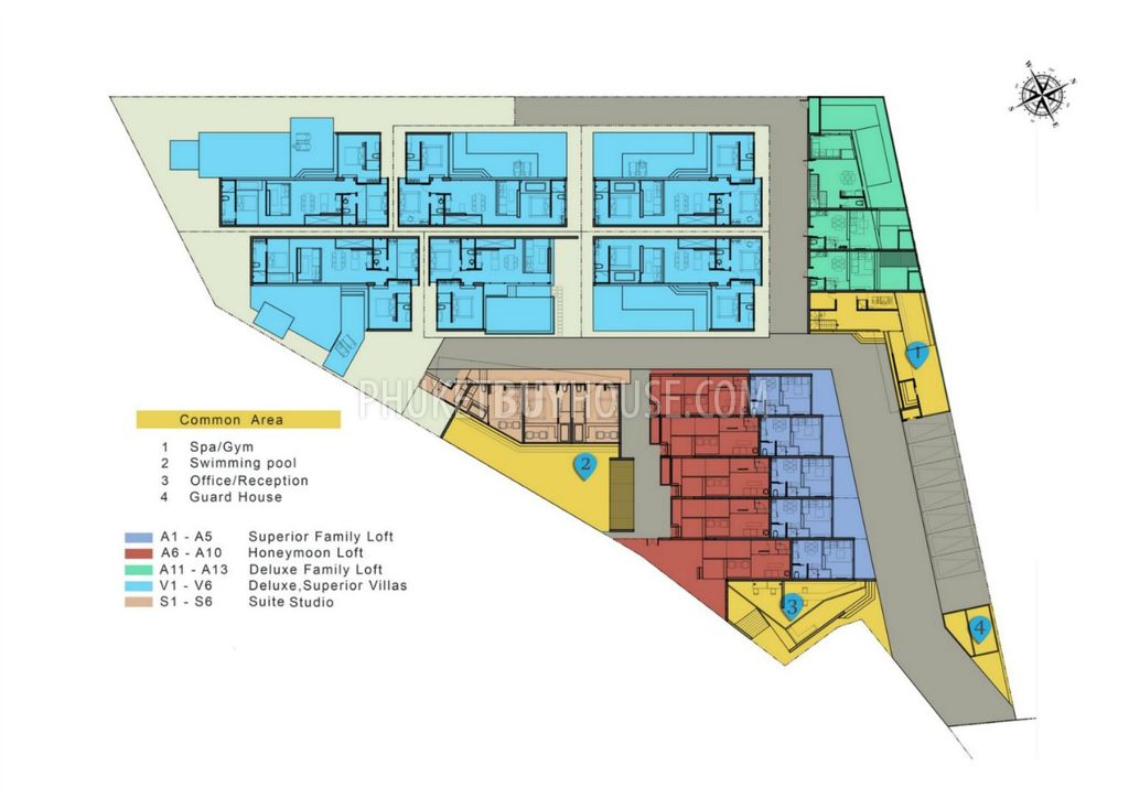 Deluxe apartment with small garden in layan for Apartment master plans