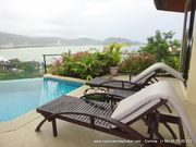 4 bed villa, amazing sea view, private pool, in Patong, tennis court, gym, pool